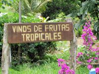 Vinos Sign in Costa Rica